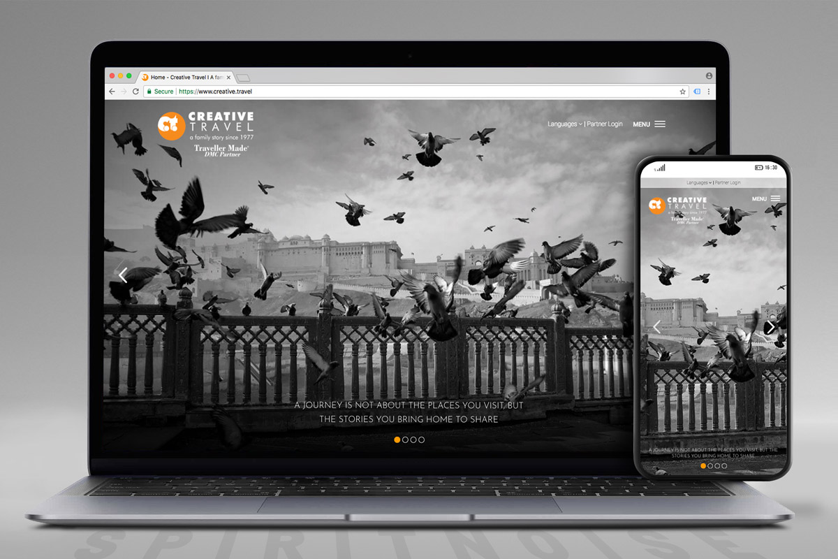 Creative Travel website screen