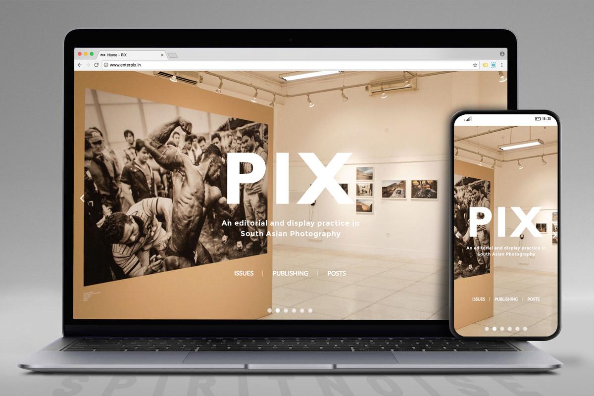 Pix website screen