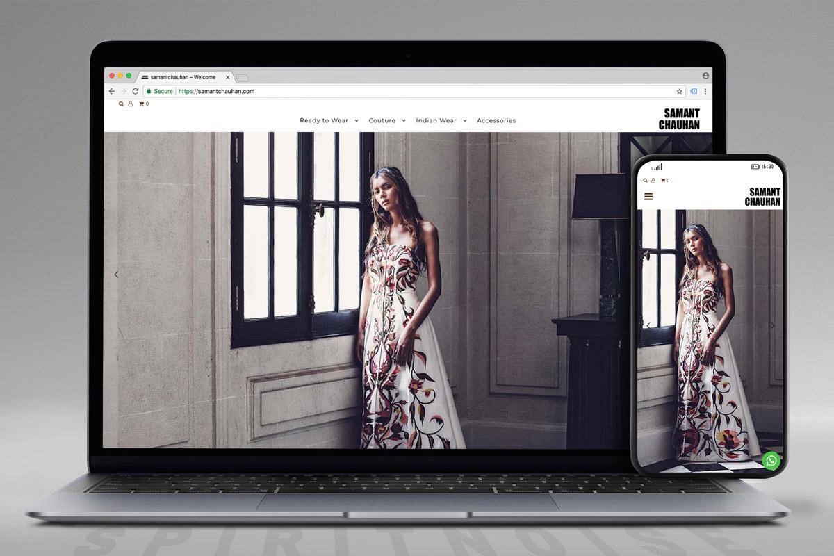 Samant Chauhan website screen