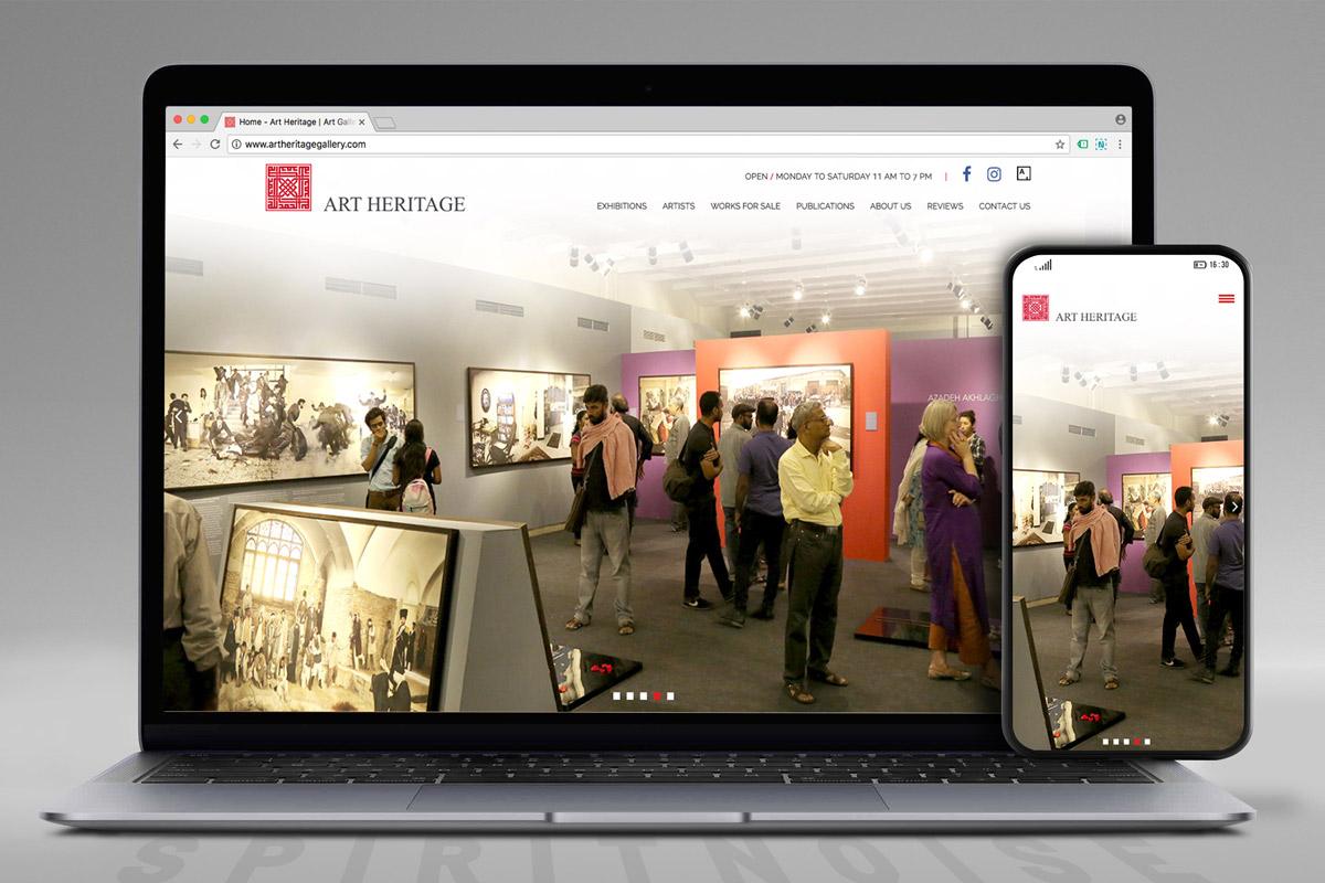 Art Heritage website screen